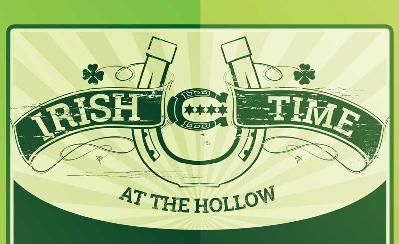 Top headline for Horse Thief Hollow Irish Time poster