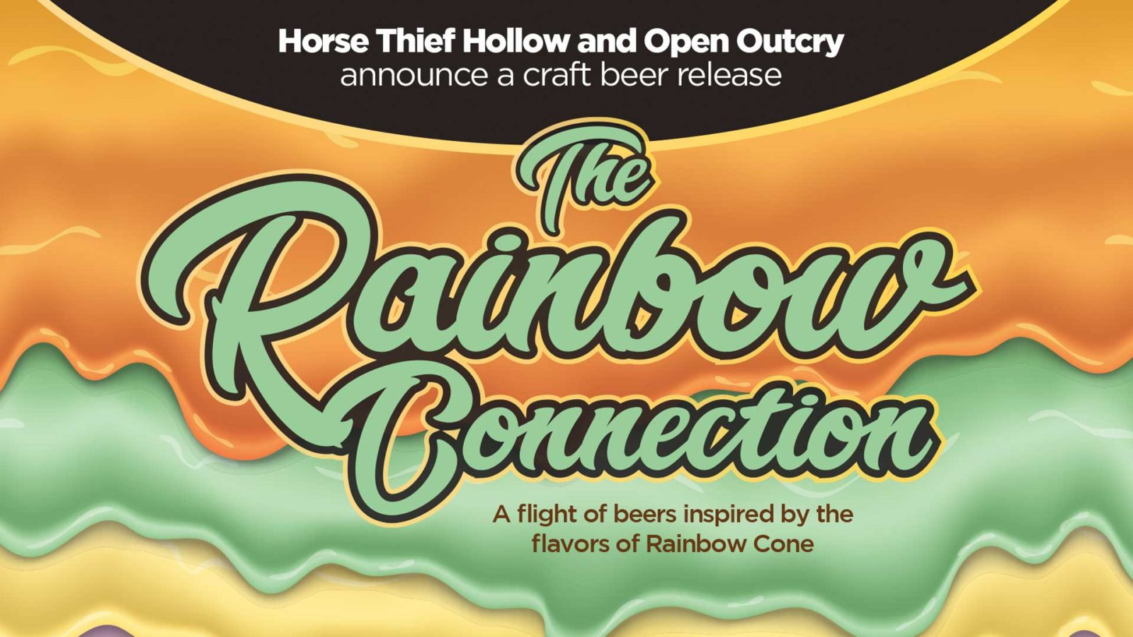 Rainbow Connection craft beer flight is inspired by the flavors of the Rainbow Cone