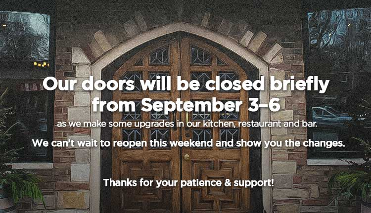 HTH closing for upgrades Sept. 3-6, 2018