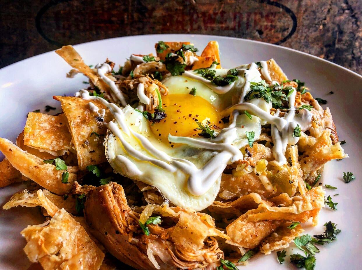 Smoked Chicken Chilaquiles from Horse Thief Hollow Brewing Co. in Chicago